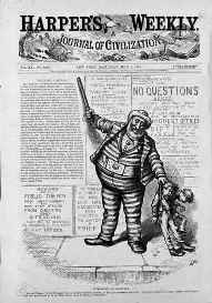 Thomas Nast cartoon of Tweed the convict
