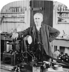 Thomas Edison in his Research Laboratory